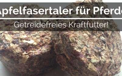 Apfelfasertaler für Pferde – Getreidefreies Kraftfutter!